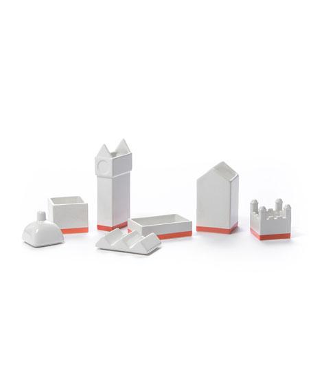 "Seletti ""The City"" Porcelain Desk Organizer Set"