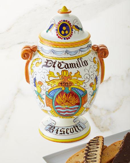 Dicamillo Baking Co Il Barattolo di Stemma di Camillo Biscotti Jar, 13 oz.