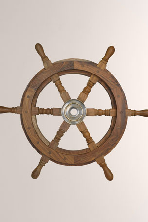 Authentic Models Captain's Steering Wheel Decoration