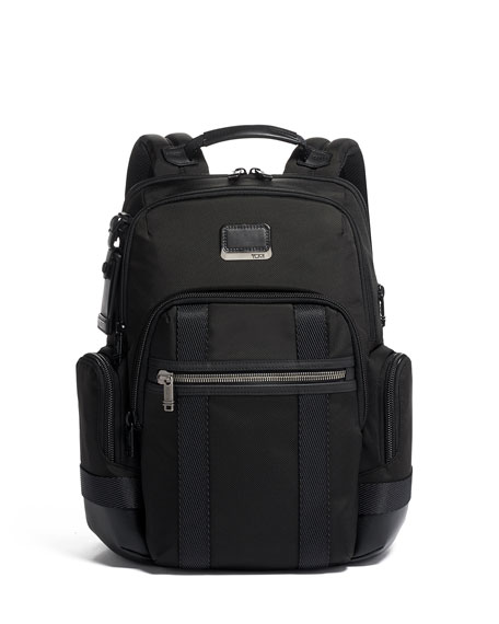 """Tumi Nathan Alpha Bravo Backpack With 15"""" Laptop Compartment In Black"""