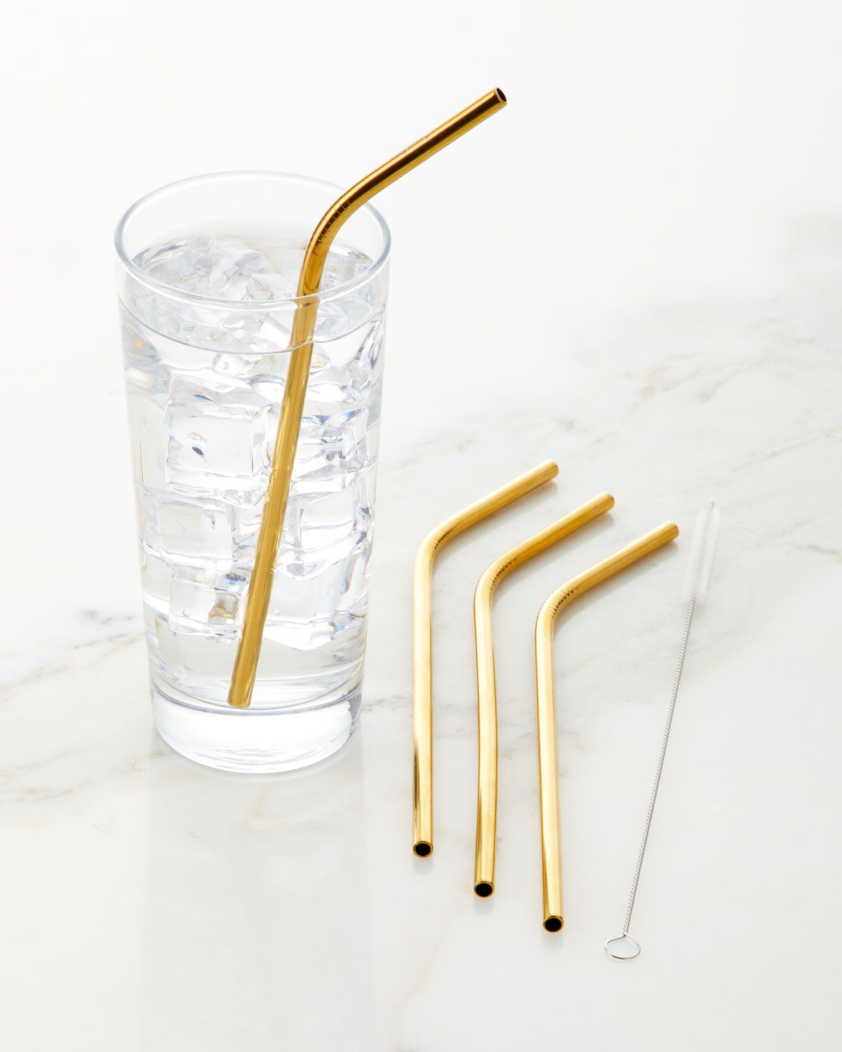 Orrefors Stainless Steel Straws with Cleaner