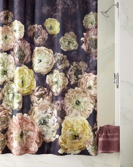 Designers Guild Le Poeme de Fleurs Midnight Shower Curtain