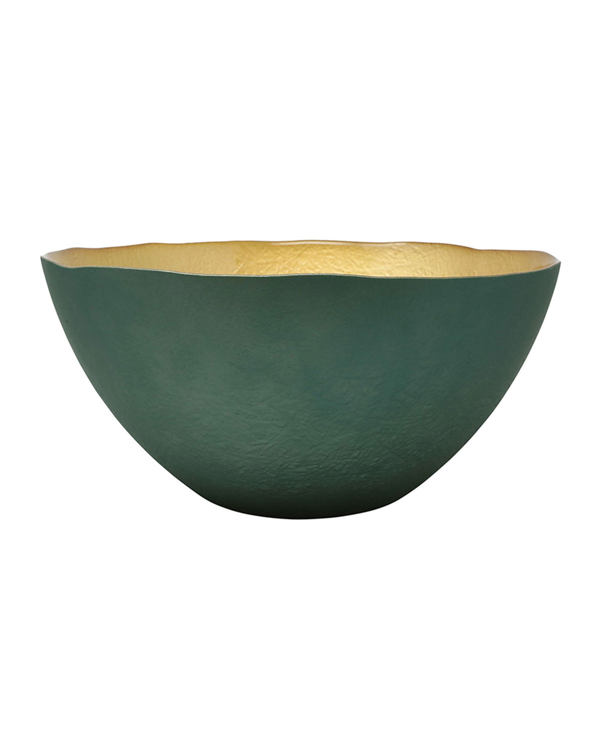 Vietri Two-Tone Glass Large Deep Bowl