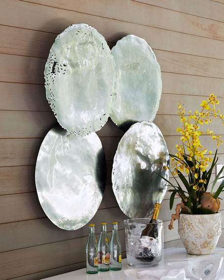The Phillips Collection Galvanized Wall Discs, Set of 4
