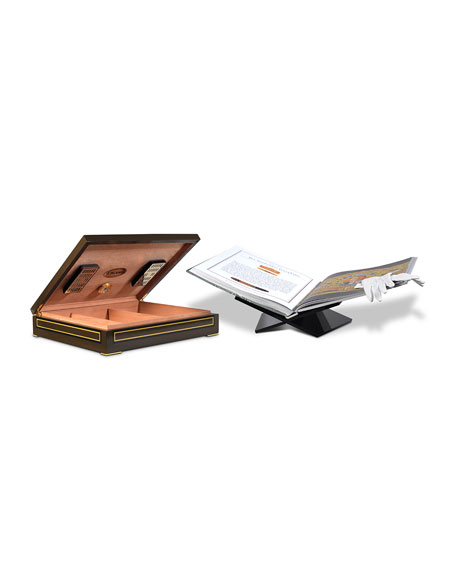 """Assouline Publishing Humidor Case with """"The Impossible Collection of Cigars"""" Book"""