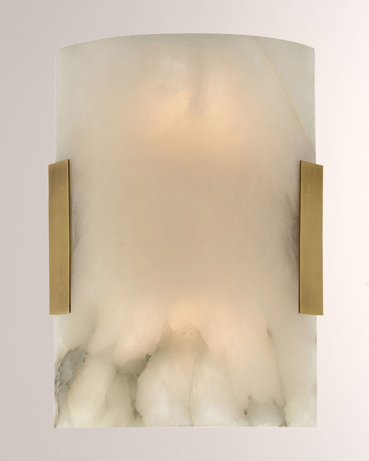 John-Richard Collection Curved Alabaster Wall Sconce