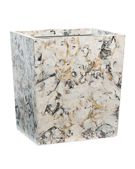 Pigeon and Poodle Tramore Natural Laminated Rectangle Wastebasket