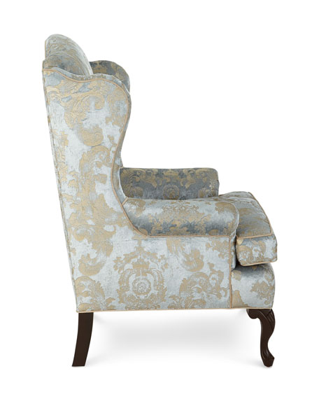 Image 4 of 6: Haute House Priscilla Wing Chair