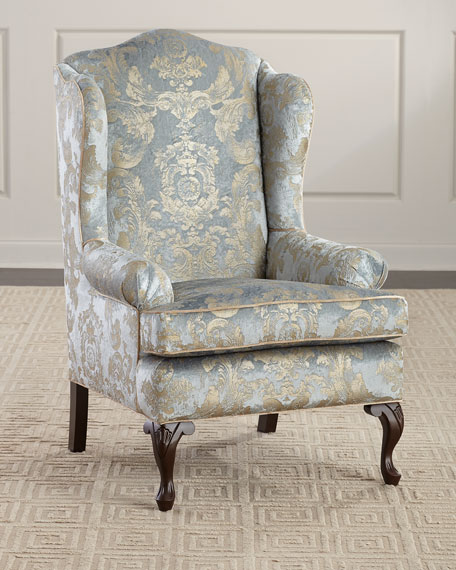 Image 1 of 6: Haute House Priscilla Wing Chair