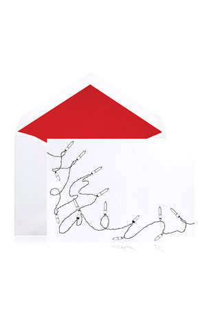 Bell'INVITO Holiday Lights Stationery Set, Box of 10
