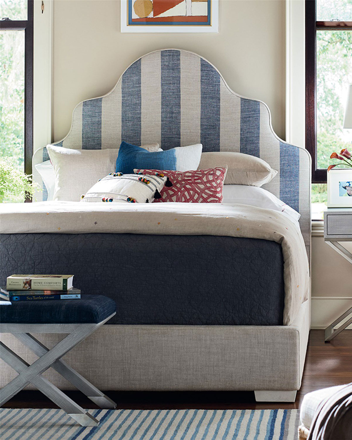 Summer Striped Queen Bed