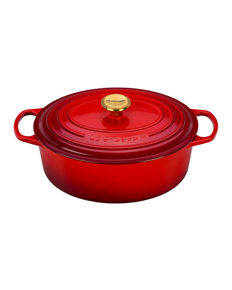 Le Creuset 6.75-Qt. Oval Dutch Oven with Gold Knob