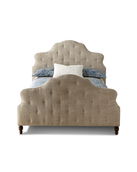 Elisha Button-Tufted King Bed