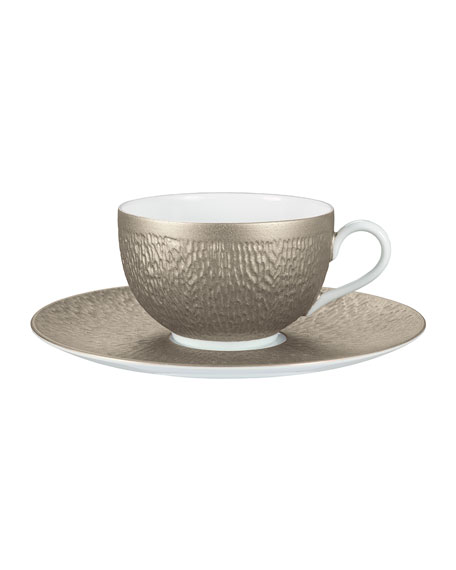 Raynaud Mineral Irise Warm Gray Tea Saucer