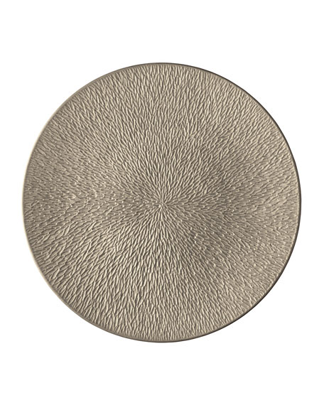 Raynaud Mineral Irise Warm Gray Engraved Buffet Plate