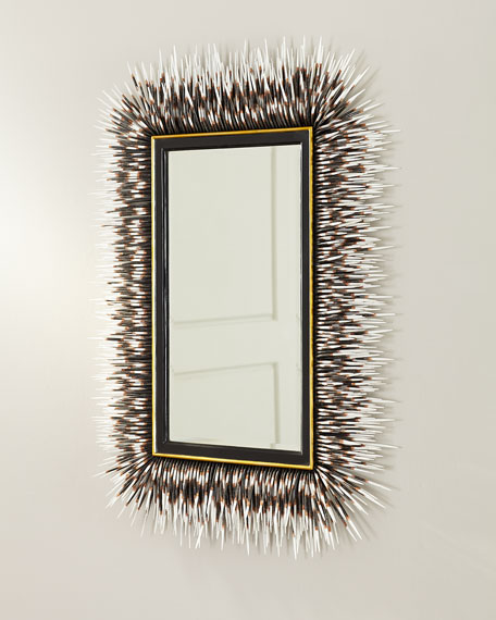 Image 3 of 4: Porcupine Quill Rectangle Mirror