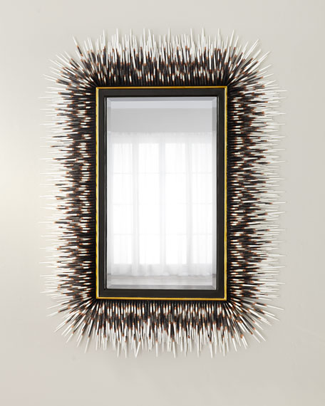 Image 1 of 4: Porcupine Quill Rectangle Mirror