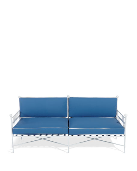 Image 4 of 6: Avery Sofa, White/Blue