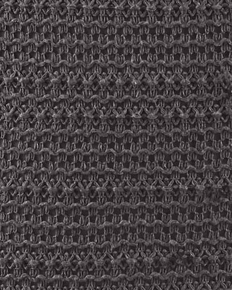 "Vera Wang Verge Gray Knit Decorative Pillow, 18"""