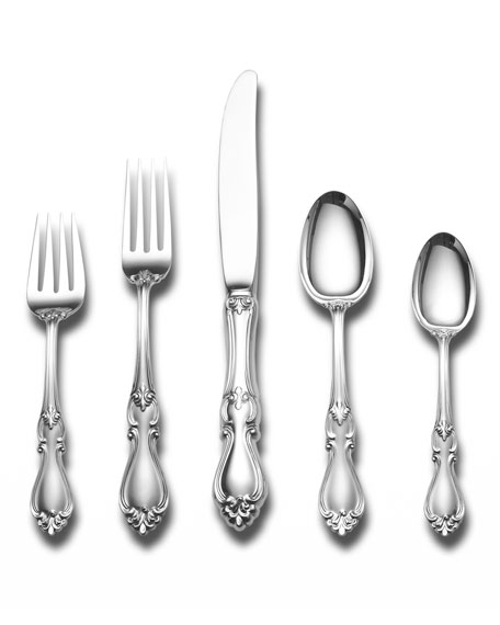 Image 1 of 2: Towle Silversmiths Queen Elizabeth 46-Piece Dinner Flatware Set