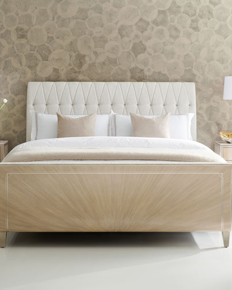 caracole Diamond Jubilee Tufted King Bed