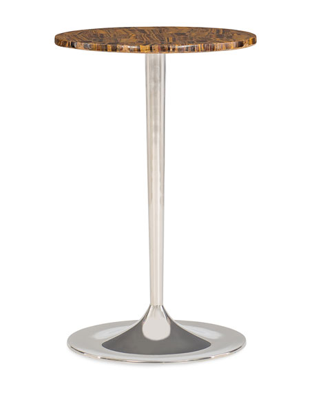 caracole Wild Thing Tiger Eye Accent Table