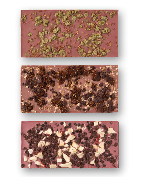 Flair Chocolatier Set of New York, Paris and Tokyo Ruby Cacao Bars