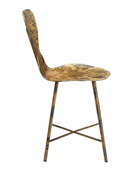 Image 3 of 3: Jamie Young Mildred Acid Washed Metal Chair