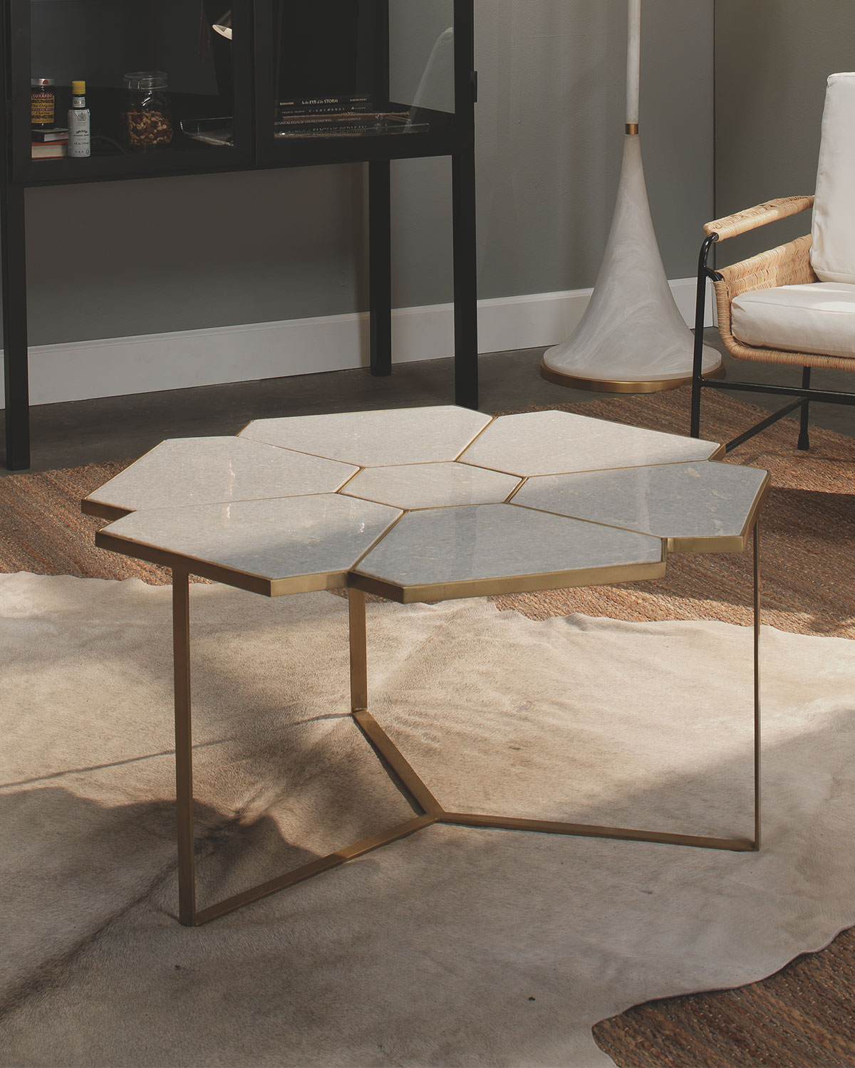 Jamie Young Honeycomb Coffee Table