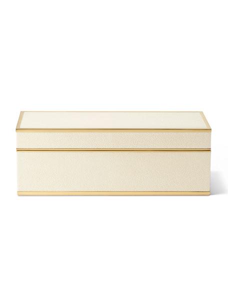 AERIN Shagreen JENGA Set, Cream