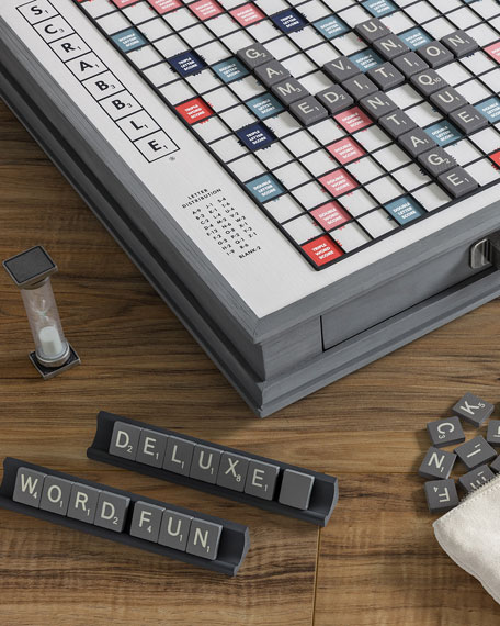 WS Game Company Scrabble Deluxe Designers Edition