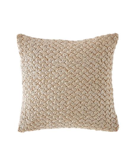 Michael Aram Metallic Knit Decorative Pillow