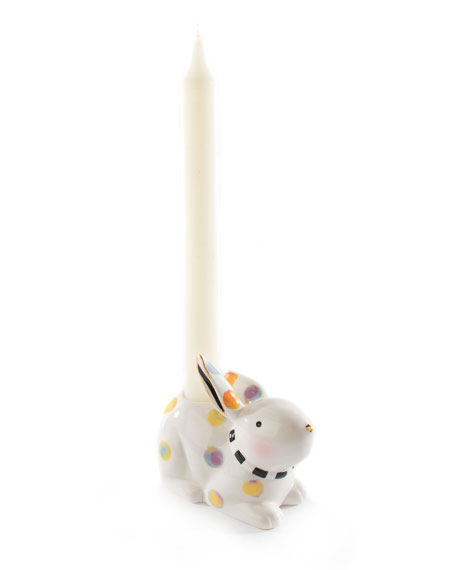 Image 4 of 4: MacKenzie-Childs Dotty Candle Holder
