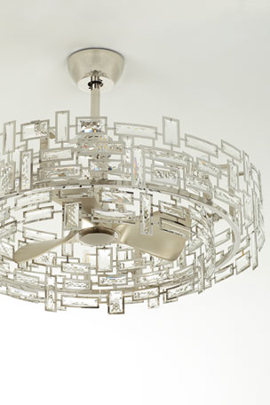 John-Richard Collection 8-Light Crystal Trim Fandelier