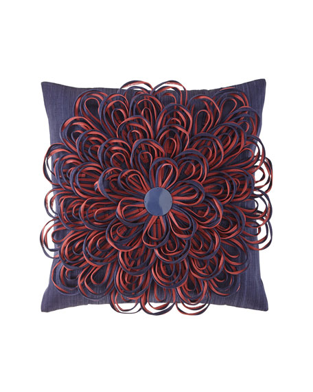 Image 1 of 2: MacKenzie-Childs On The Avenue Bluetopia Pillow