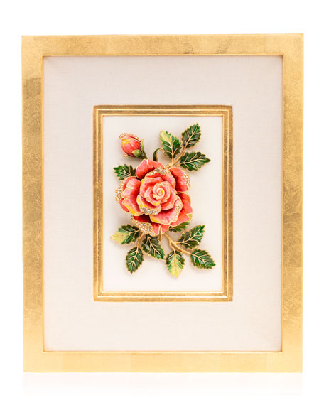 Image 1 of 3: Jay Strongwater Rose Wall Art
