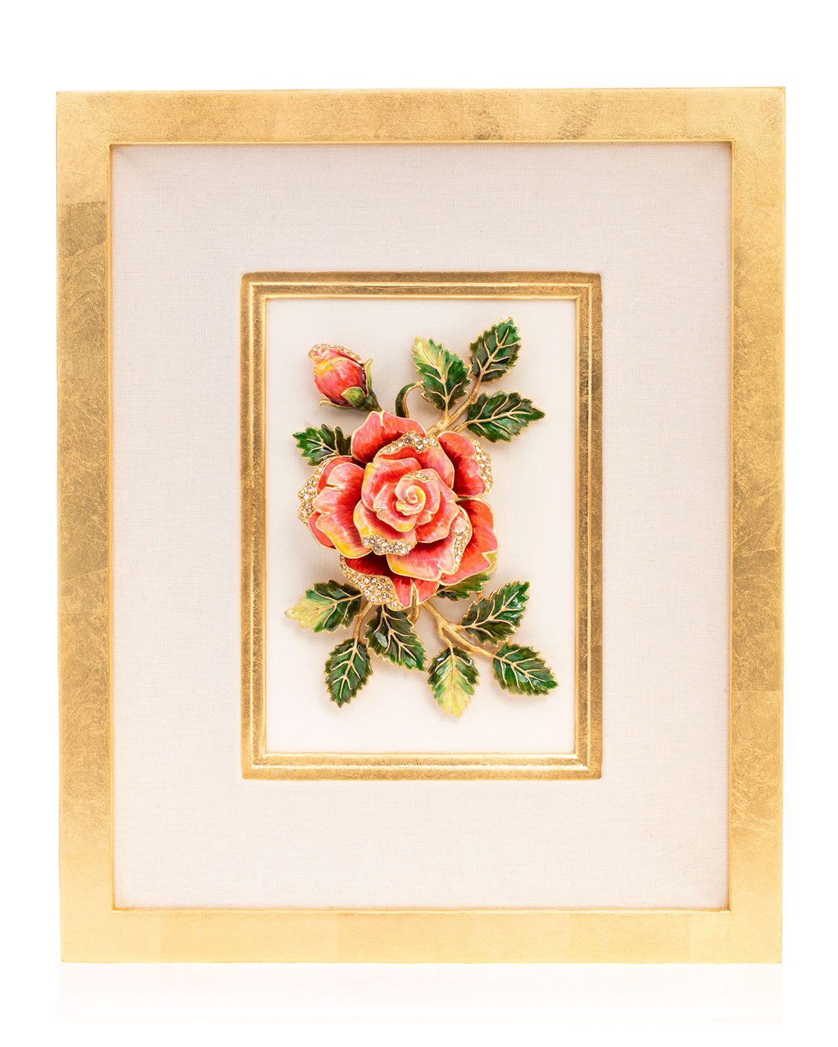 Jay Strongwater Rose Wall Art