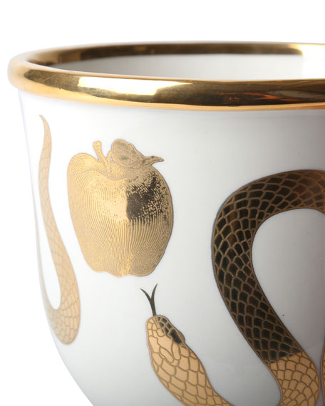 Image 3 of 3: Jonathan Adler Botanist Snake Apple Bowl