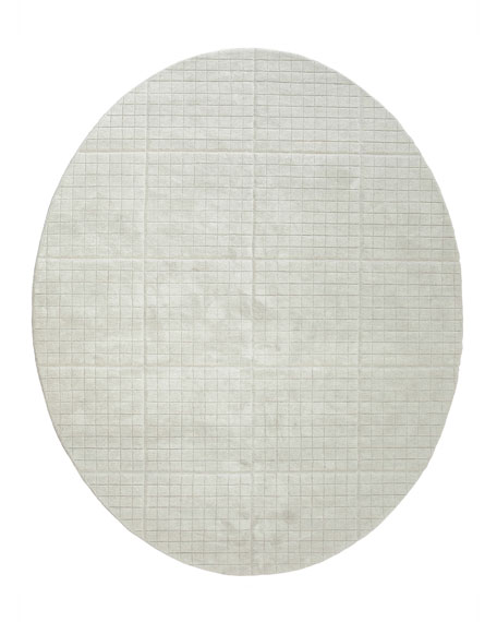 Image 2 of 2: William D Scott Cuff Link Oval Rug, 8' x 10'