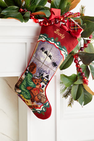 Sferra Needlepoint Little Boy Stocking, Personalized