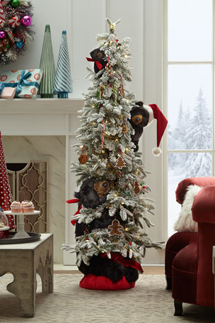 Ditz Designs By The Hen House Sweets Trio Lighted Christmas Tree with Plush Bears, 72""