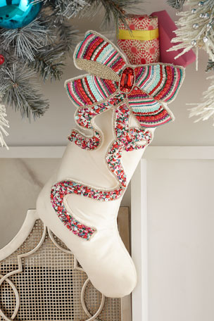 Kim Seybert Sweet Holiday Bow Stocking