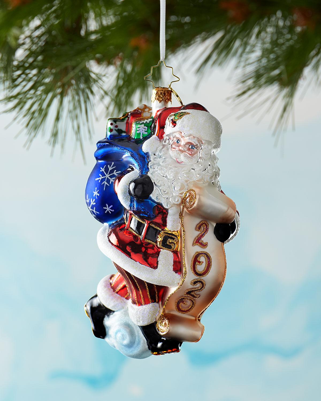 Christopher Radko 2020 Santa Saves The Date Christmas Ornament Neiman Marcus