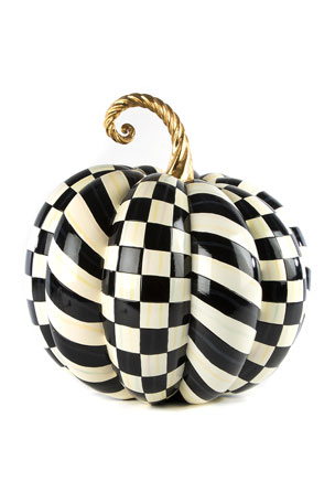 MacKenzie-Childs Courtly Check Gold Top Pumpkin
