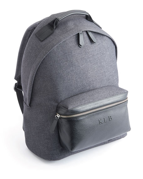 "Image 1 of 3: ROYCE New York Mixed Media 13"" Laptop Backpack"