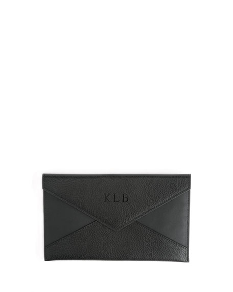 Image 1 of 2: ROYCE New York Envelope Clutch