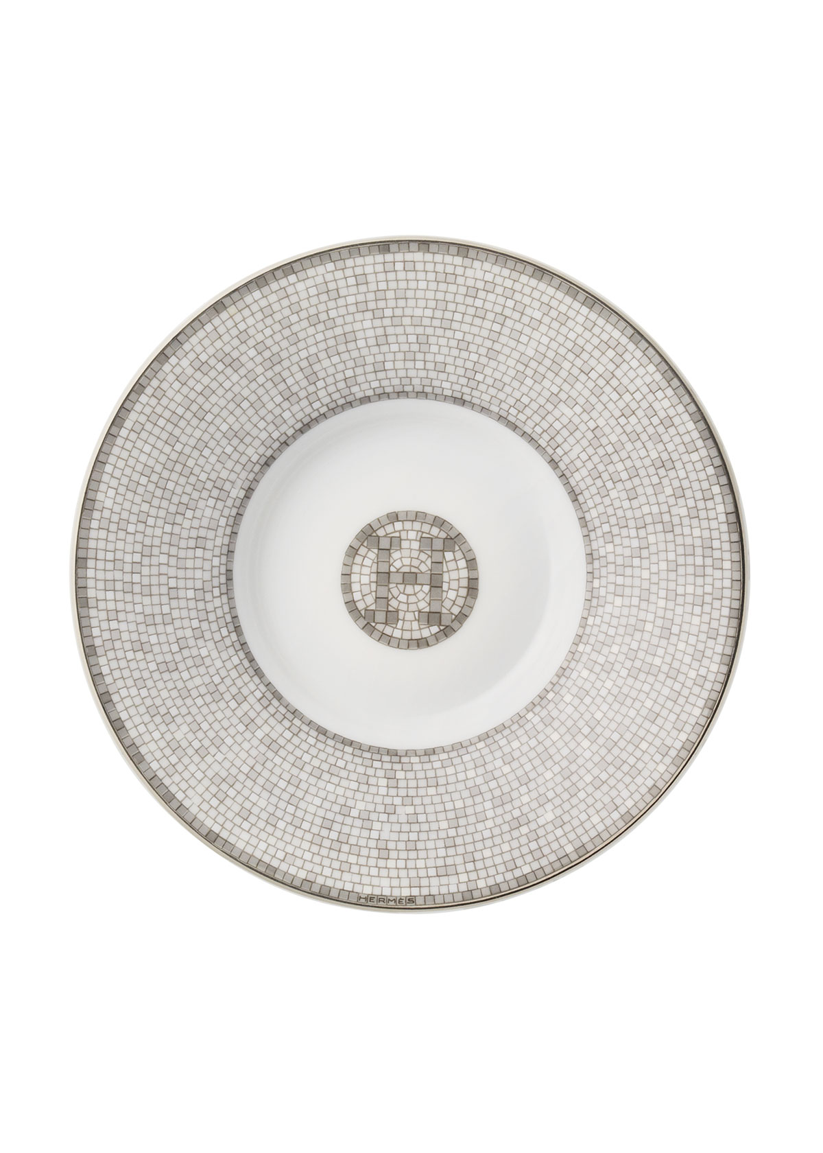 Hermès Mosaique Au 24 Platinum Coffee Cup and Saucer Set ...