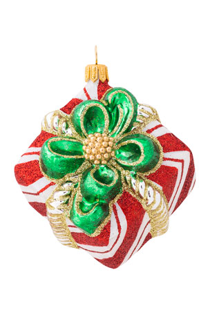 Juliska Berry & Thread Red & White Stripe Present Ornament