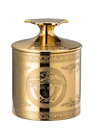 Versace Gold Medusa Votive with Lid