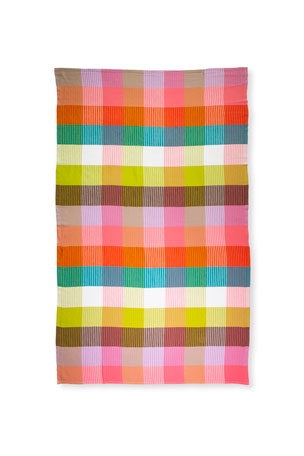 kate spade new york rainbow plaid turkish cotton towel